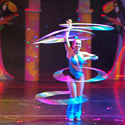 Irina Burdesky performing Hula Hoops