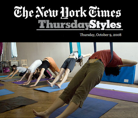 Aerial Yoga in the NY Times