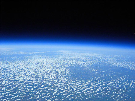 View of Earth from 117,597 feet