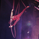 Anne Grandeau performing Triple Aerial Rope