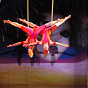 Michelle Dortignac and Kristen Olness performing Duo Trapeze