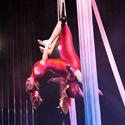 Michelle Dortignac and Kristen Olness performing Duo Trapeze
