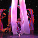 Kristen Olness, Michelle Dortignac and Hilary Sweeney performing Silks