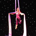Hilary Sweeney, Michelle Dortignac and Kristen Olness performing Silks